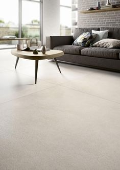 Beige porcelain stoneware: view the collections – Marazzi 6349 – Flooring Living Room Flooring, Kitchen Flooring, Living Room Designs, Living Room Decor, Flur Design, House Tiles, Grey Flooring, Modern Flooring, Room Tiles