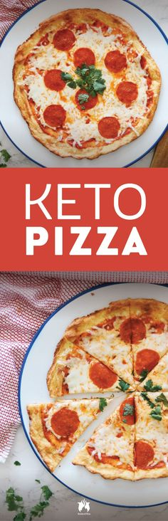 Sometimes we can't believe the keto diet is called a diet, especially when you get your hands on recipes like this Keto Pizza with Pepperoni.