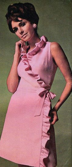 Model Jennifer O'Neill is wearing a creation byGivenchy.Vogue,1968.