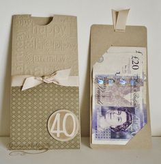 Money wallet birthday 'card'.