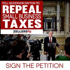 Have you signed the petition? Sign the petition to repeal business taxes here: http://www.kurtzellers.com/petition/repeal-small-business-taxes/?source=Pinterest