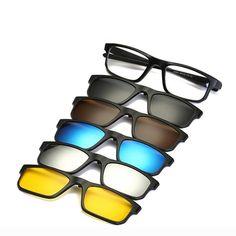 35651d3b8d 5 In 1 Magnetic Glasses. Men EyeglassesOptical FramesClip On SunglassesPolarized  SunglassesMirrored SunglassesWomens ...