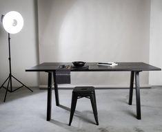 Bitterlich Studio — Move With Me Table Black Furniture, Furniture Design, Studio, Office Desk, Interior Design, Table, Home Decor, Nest Design, Homemade Home Decor