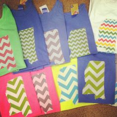 Chevron Pocket, MS or AL state and Cross or Cross Pocket T-shirt on Etsy, $29.00