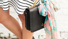 All the Cool Girls Are Tying Their Scarves Around Their Purses | Fashion | PureWow National