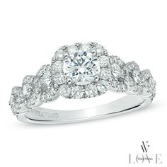 I've tagged a product on Zales: Vera Wang LOVE Collection 1-1/4 CT. T.W. Diamond Frame Engagement Ring in 14K White Gold