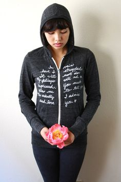 Mr Darcy's Proposal LARGE Zip Up Hoodie in Eco by neenacreates, $42.00