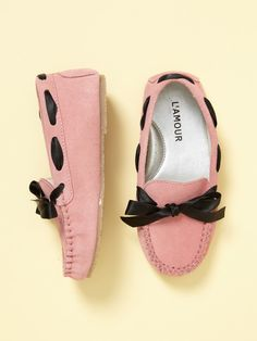 L'Amour and Angel Girls Ribbon Loafer......... def buying for mia