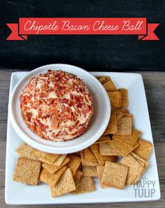 Chipotle Bacon Cheddar Cheese Ball | The Happy Tulip