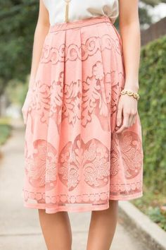 Lola Lace Midi Skirt #francescas                              …