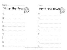 Write the Room Valentine Freebie!!