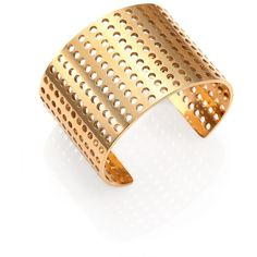 Kelly Wearstler Idealist Perforated Cuff Bracelet RON) ❤ liked on Polyvor… - Geometric Jewelry Pandora Bracelets, Pandora Jewelry, Charm Jewelry, Jewelry Bracelets, Bangle Bracelet, Jewelry Crafts, Ear Cuff Jewelry, Jewellery Box, Golden Jewelry