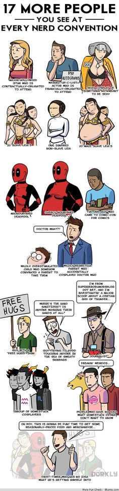 people see nerd convention comic