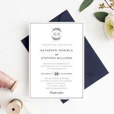 Wedding Invitation Card Template FourFold Filigree Envelope