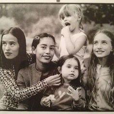 Karis Jagger - Jade, Karis with little Assisi Jackson, little Georgia May & Elizabeth Jagger - 454 x 454