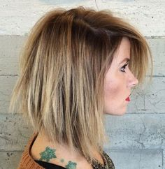 shaggy bob with balayage