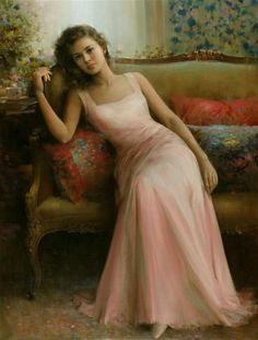 """An He - painted this romantic work called """"Thoughts of You"""""""