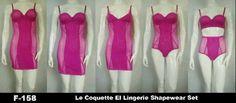1. Lingerie pad, 2. lingerie non pad 3. lingerie nonwire, 4. bodysuit 5. bra set with panty brand La Coquette El Shapewear Set PINK available size 34B.  harga 320.000/paket