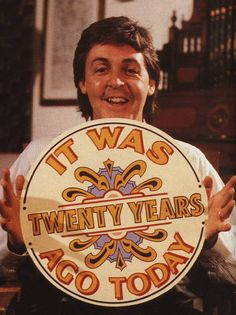"""Paul McCartney """"It was 20 years ago today"""" in the 80's"""