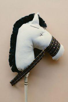 the Stick Horse in Natural Denim
