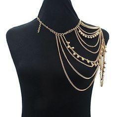 HSRT Womens Sexy Fashion Alloy Gold Shoulder Chain Neckla... https://www.amazon.com/dp/B013QVR3LS/ref=cm_sw_r_pi_dp_x_H3CFybBJHZY87