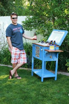 For Father's Day this year, I built my husband a cooler stand to fit a… :: Hometalk