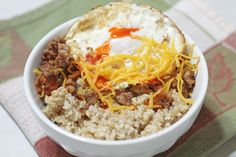 You don't have to be a trucker to eat like one. Top your favorite oatmeal with a fried egg, ham or sausage, shredded cheddar cheese and hot ...