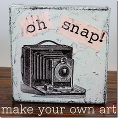 Make your own wall art using tissue paper, mod podge & canvas.