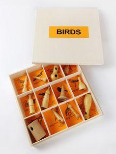 Handmade bird calls gift box
