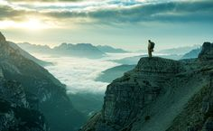 Hiker man at the rock cliff by Gergely Zsolnai on 500px