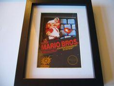 Super Mario Bros NES 3D Shadow Box Diorama Art by 33miniatures