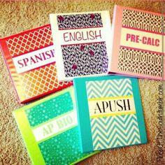 D.i.y school binders