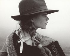 hat, braid, cowgirl, western, outdoors, fall, long hair, exploration, adventure, coat, young, ribbon, perfect, tomboy, original from: That Kind Of Woman