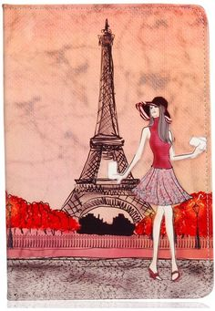 iPad Air 2 Case iPad 6 Case, KolorFish iPrint Eiffel Tower Printed PU Leather Stand Case for Apple iPad Air 2 / iPad 6 Orange Torre Eiffel Paris, Paris Eiffel Tower, Paris Cards, Paris Illustration, Style Parisienne, Louvre Paris, Classroom Art Projects, Paris Images, Paris Mode