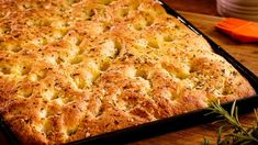 Focaccia with rosemary and sea salt - Easy Meals with Video Recipes by Chef Joel Mielle - Gourmet Recipes, Healthy Recipes, Easy Recipes, Burek Recipe, Bread Machine Recipes, Bread Recipes, Recipe 30, Food Categories, Recipe Search