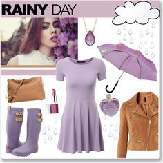 Rainy day by veronica7777 on Polyvore featuring Doublju, H&M, Chooka, Michael Kors, Marie Todd, Opening Ceremony, Clinique and Vera Wang