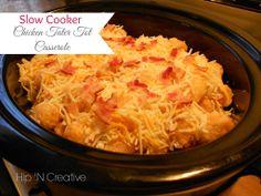 Slow Cooker Recipe: {Chicken Tater Tot Casserole}   Hip N' Creative