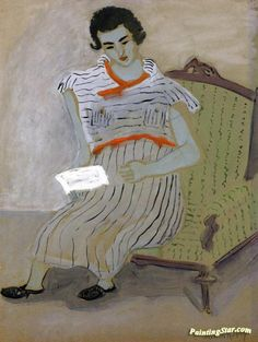 Girl Writing Artwork by Milton Avery Hand-painted and Art Prints on canvas for…