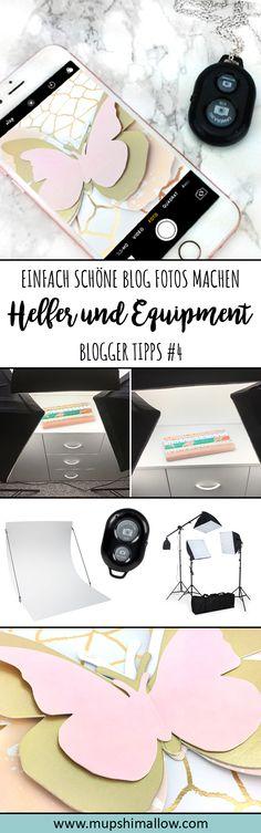 Blogger Tipps Reihe - Nummer 4: Die besten Helfer und Equipment, um einfach schöne Blog Fotos zu machen. Klickt hier für Tipps und Tricks, um als Blogger (Anfänger) günstig ein tolles Start Equipment zu haben und sich mit kleinen Helfern die Arbeit zu erleichtern.