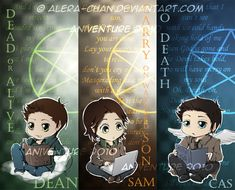 Supernatural Bookmarks by psyAlera.deviantart.com on @deviantART