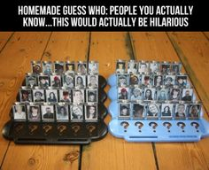 Homemade Guess Who game