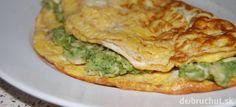 Omeleta plnená brokolicou a kuracím mäsom