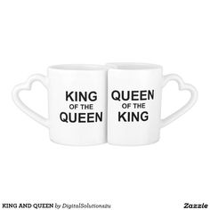KING AND QUEEN COUPLES COFFEE MUG