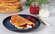 Glutenfri vafler Waffles, Breakfast, Sweet, Baking Soda, Morning Coffee, Candy, Waffle, Morning Breakfast