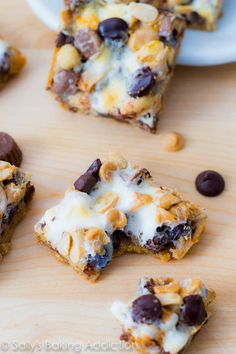 Peanut Butter Smore 7 Layer Bars. Skip all the dishes and make layer bars right in the pan! These only take 30 minutes. If you love s'mores + peanut butter, you'll love these!