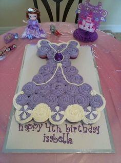 Sophia the First Pull apart Cupcake Cake  - Bunny Boots Bakery - Orlando, Fl