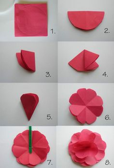 We used to make these all the time for decorations when i was a kid papier falten fr papierblumen mightylinksfo