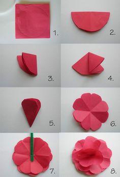 Papier falten für Papierblumen
