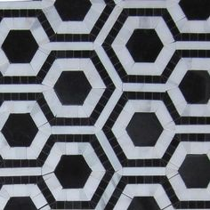$25 Shop For Cosmos Nero and Asian Statuary Hexagon Marble Tile at TileBar.com