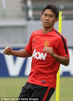 Second chance? Kagawa will be hoping to impress Van Gaal after being in and out of the tea...